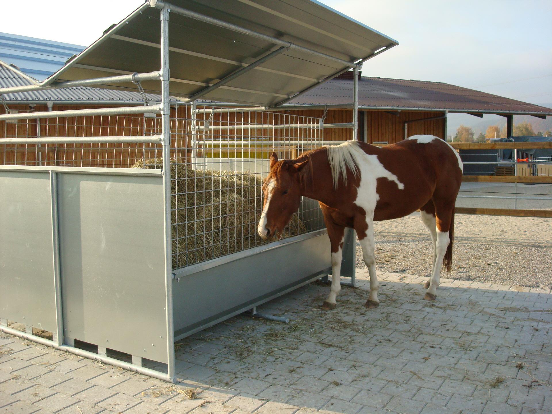 Was bieten wir den pferden for Boden heuraufe pferd